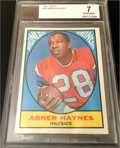 Abner Haynes Denver Broncos 1967 Topps card #35 BVG graded 7 NrMt