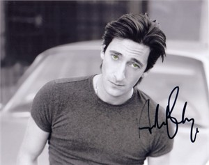Adrien Brody autographed 8x10 black & white photo