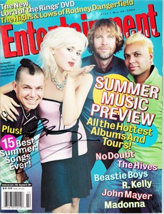 Adrian Young autographed No Doubt 2004 Entertainment Weekly magazine