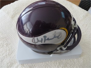Ahmad Rashad autographed Minnesota Vikings mini helmet