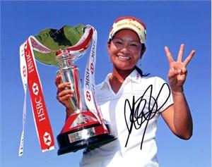 Ai Miyazato autographed 2010 LPGA HSBC Women's Champions 8x10 photo