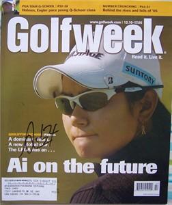 Ai Miyazato autographed 2005 Golfweek magazine (old signature)