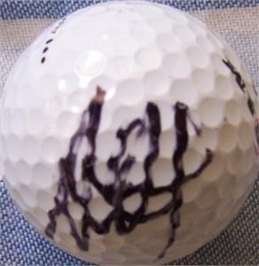 Ai Miyazato autographed golf ball