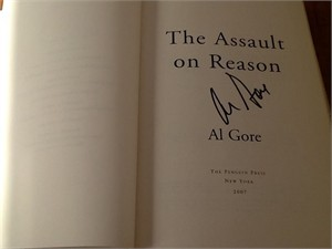 Al Gore autographed The Assault On Reason hardcover book