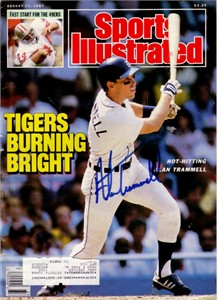 Alan Trammell autographed Detroit Tigers 1987 Sports Illustrated