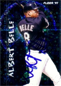 Albert Belle autographed Chicago White Sox 1997 Fleer card