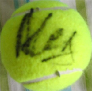 Alex Corretja autographed tennis ball