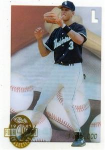 Alex Rodriguez 1993 Classic 4-Sport Acetate insert card