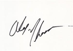 Alex Thomas autographed photo card