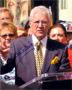 Alex Trebek autographed 8x10 photo