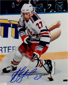 Alexei Kovalev autographed New York Rangers 8x10 photo
