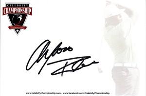Alfonso Ribeiro autographed 4x6 signature card