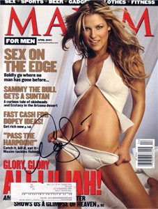 Ali Larter autographed 2001 Maxim magazine cover