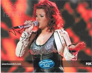 Allison Iraheta autographed 2009 American Idol 8x10 photo