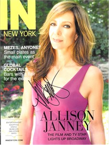Allison Janney autographed IN New York 2017 magazine