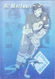 Al MacInnis Flames 1994-95 Score Dream Team hologram insert card #DT7