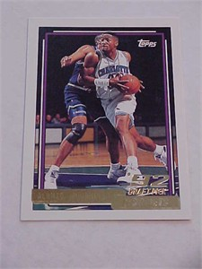 Alonzo Mourning Hornets 1992-93 Topps Gold Rookie Card #393 MINT