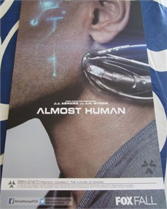 Almost Human 2013 Comic-Con 11x17 promo poster MINT (Minka Kelly Karl Urban)
