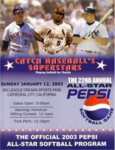 Albert Pujols Mike Piazza Jason Giambi 2003 Pepsi All-Star Softball program
