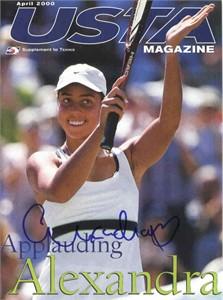 Alexandra Stevenson autographed USTA tennis magazine