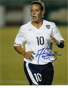 Aly Wagner autographed U.S. National Team 8x10 photo