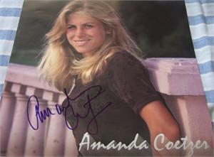 Amanda Coetzer autographed 1998 WTA Tour calendar page
