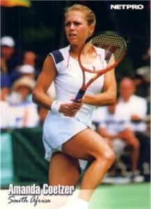 Amanda Coetzer 2003 Netpro card