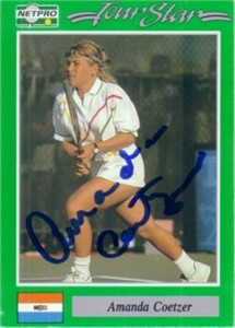 Amanda Coetzer autographed 1991 Netpro tennis Rookie Card