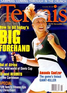 Amanda Coetzer November 1997 Tennis magazine MINT NO LABEL