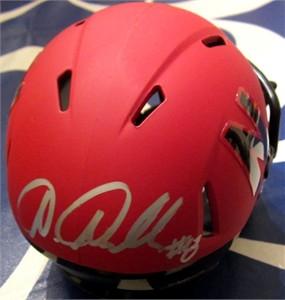 Ameer Abdullah autographed Nebraska Cornhuskers 2014 alternate red mini helmet