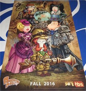 American Dad cast autographed 2016 Comic-Con poster Dee Bradley Baker Scott Grimes Rachael MacFarlane Wendy Schaal