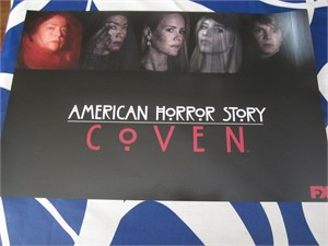 American Horror Story Coven & Freak Show 2 sided 2014 Comic-Con mini promo poster