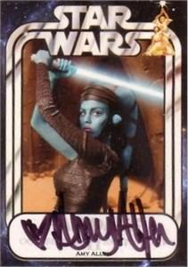 Amy Allen certified autograph Aayla Secura 2008 Star Wars Fan Days card