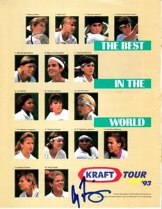 Amy Frazier autographed 1993 WTA Tour tennis magazine page
