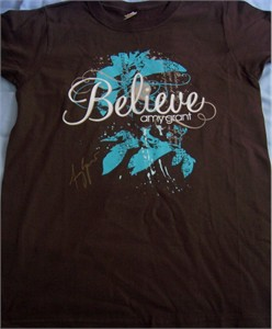 Amy Grant autographed Believe T-shirt