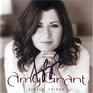 Amy Grant autographed Simple Things CD booklet
