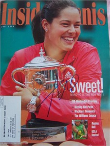 Ana Ivanovic autographed 2008 French Open Inside Tennis magazine