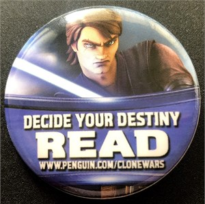 Star Wars Clone Wars 2011 Comic-Con promo button or pin (Anakin Skywalker)