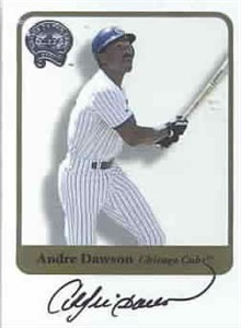 Andre Dawson certified autograph Chicago Cubs 2001 Fleer card