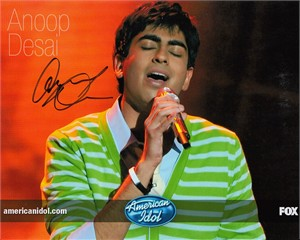 Anoop Desai autographed 2009 American Idol 8x10 photo