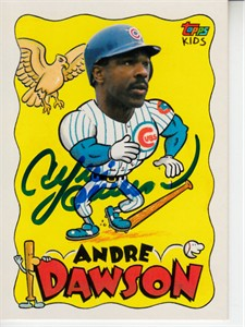 Andre Dawson autographed Chicago Cubs 1987 Topps Traded card