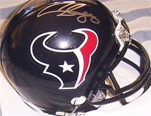 Andre Johnson autographed Houston Texans mini helmet