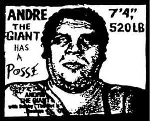Andre the Giant Has a Posse decal or sticker (Shepard Fairey art)