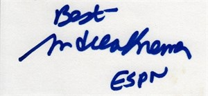 Andrea Kremer autographed index card inscribed ESPN