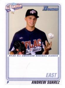 Andrew Suarez 2010 AFLAC Bowman Rookie Card