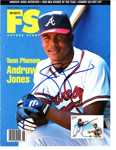Andruw Jones autographed Atlanta Braves 8x11 photo card