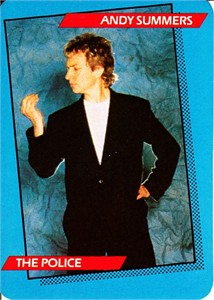 Andy Summers The Police 1985 Rockstar Concert Card