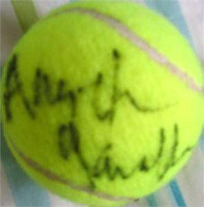 Angelica Gavaldon autographed tennis ball