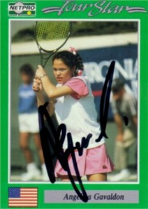 Angelica Gavaldon autographed 1991 Netpro tennis card