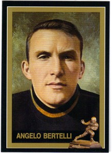 Angelo Bertelli Notre Dame 1943 Heisman Trophy winner card